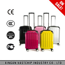 Best quality candy color lady trolley luggage suitcase & Big ABS luggage