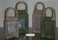 Eco-friendly Jute Gift Packaging wine Bottle Bag