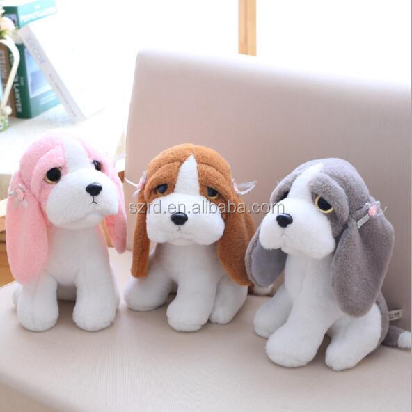 Wholesale plush animal dog puppy animal toys with big eyes