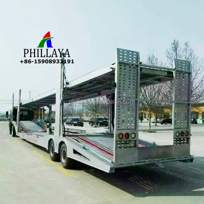 Double Floor 4 Cars Hauler Semi Trailer Truck Car Carrier For Sale ...
