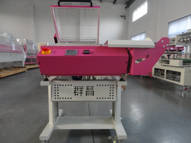 High quality pe film shrink wrapping machine for food shrink tunnel with ss chain