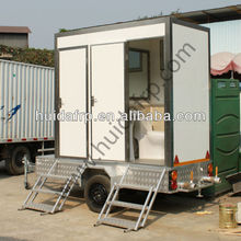 China VIP luxury mobile portable toilet with trailer low price for sale