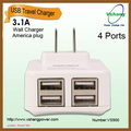 High charging speed 4 ports usb wall charger