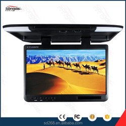 Roof mounted car lcd hina 22 inch hd 1080p flip down car monitor