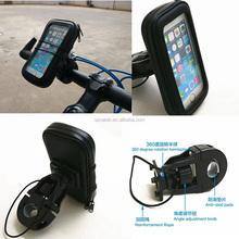 Waterproof Bike Mount Holder with Water Resistant Pouch Motorcycle and Bicycle Mount Fits Most Smart Phones