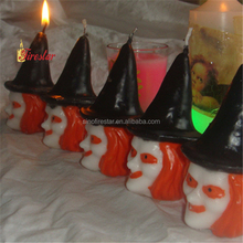 hand-drawn witch halloween candle