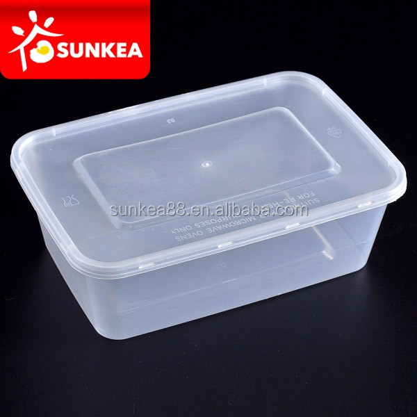 Transparent disposable PP lunch food plastic box with cover