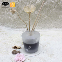 135ml fragrant cylindroid frosted glass bottle with crimp mouth aroma diffuser glass bottle container for sale