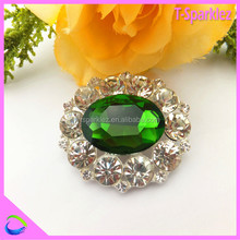round silver base rhinestone brooch stone brooch for normal dressing
