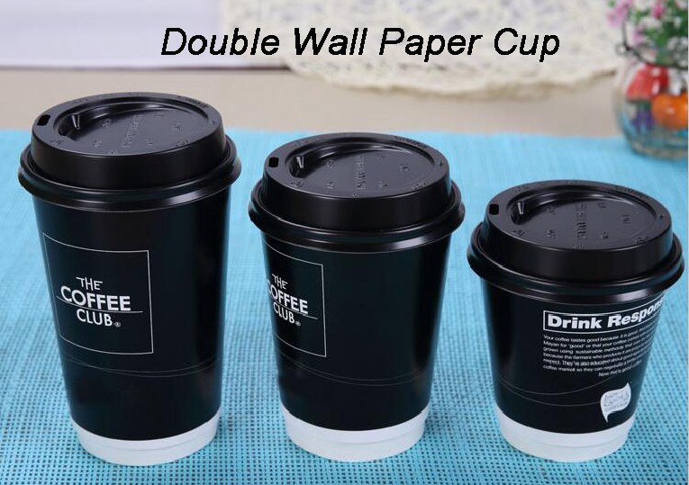 Hot coffee cups high quality disposable double wall paper cup