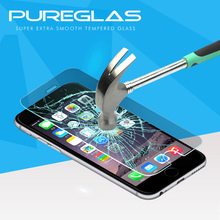 Pureglas premium ultra thin tempered glass screen protector film for iphone7 templado vidrio protector de pantalla