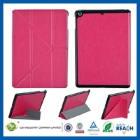 Luxury fashionable design bling bling pu leather stand cover for ipad air