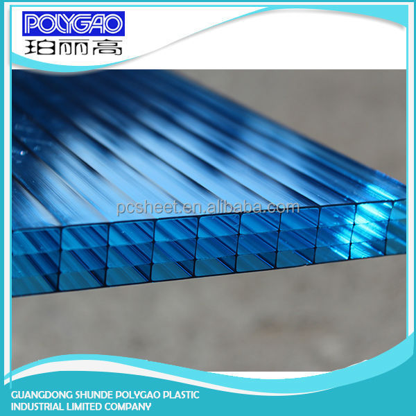 wholesale pc four wall hollow sheet,polycarbonate four-wall hollow sheet/plastic sheet for commercial greenhouse