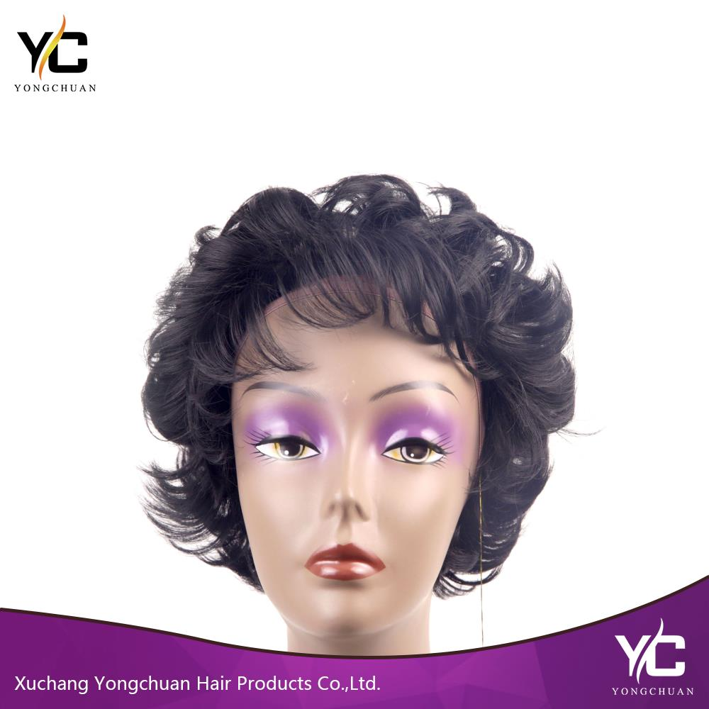Aliexpress best selling products short curly jewish wig, mom wig with free sample