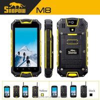 Snopow M8 IP68 waterproof 4.5 inch quad core android 4.2.2 walkie talkie 5km wireless charger 3G NFC rugged smartphone