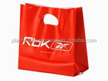 Shoe Store Logo Printed Plastic Die Cut Shopping Bag