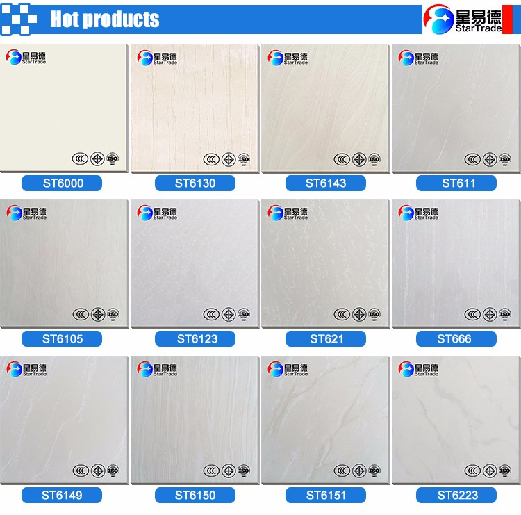 interior double loading floor tile, 60*60 cm polished porcelain tiles