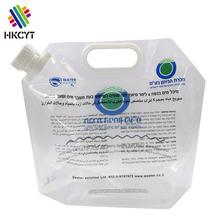 Food grade transparent nylon PA material 500g 1kg 2kg stand up water packaging pouch bag with cap up
