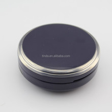 round empty cosmetic airless cushion loose compact powder case for bb/cc cream/foundation with mirror