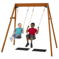 wooden children baby swing