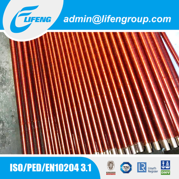 Economizer parts G type embedded fin tube with copper fins