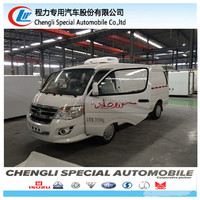 hot sale fonton 1T 2axles small refrigerated van small mini vehicle refrigeration units for sale