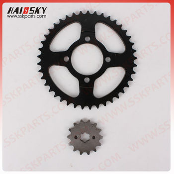 HAISSKY motorcycle sprocket set for CD70