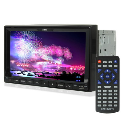 Hotest 7 inch Touch Screen Car DVD Player Built in TV System/ FM Radio/ Amplifier/ with Bluetooth , With GPS