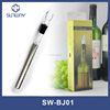 Stainless steel wine cooler with pour convenient use ice stick