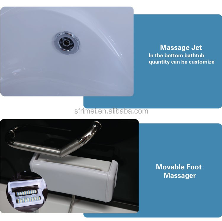 Trade Assurance Guangzhou Canton Fair Enclosed massage whirlpool steam shower room