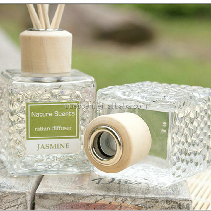 Home Fragrance Crystal Glass Bottle Wood Cap Aroma Oil Diffuser Set TS-RD165B