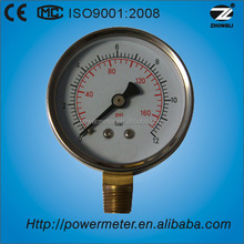 2.5'' 60mm chrome plated cover bourdon tube pressure gauge manometer