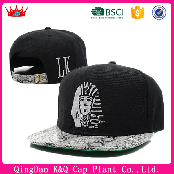 wholesale leather strap snapback blank hat leather strap back hats for men and women