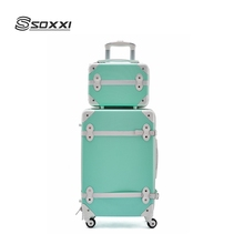 4 pcs trolley suitcase bag ABS luggage trolley hard case