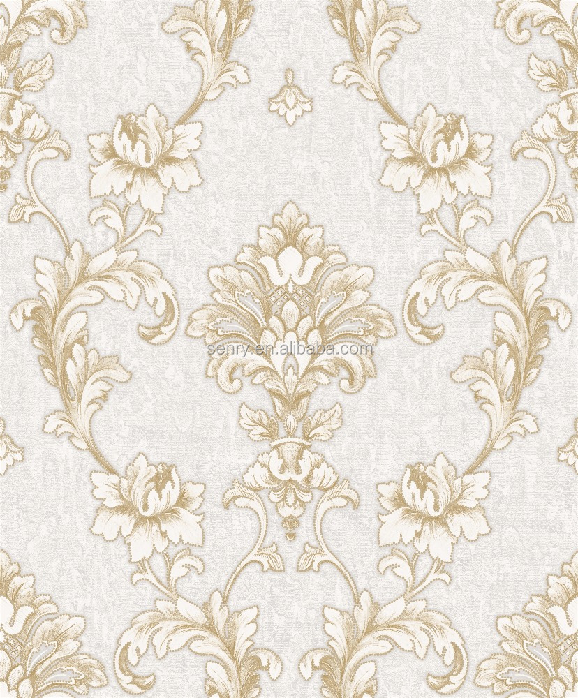 Classic Style and Vinyl Wallpapers Type luxury home interior embossed paper back wallpaper