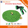 Best seller in Ebay 50FT brass fittings retractable garden hose with 9-patterns spray nozzle