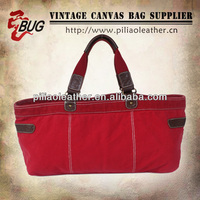 Top sale custom 16oz red canvas chevron tote bag wholesale