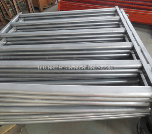 Factory Galvanized Cattle Yard Panel 70mm x 40mm Oval Rail with 50 X 50 RHS post