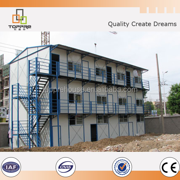 PU sandwich panel prefab houses for labor camp