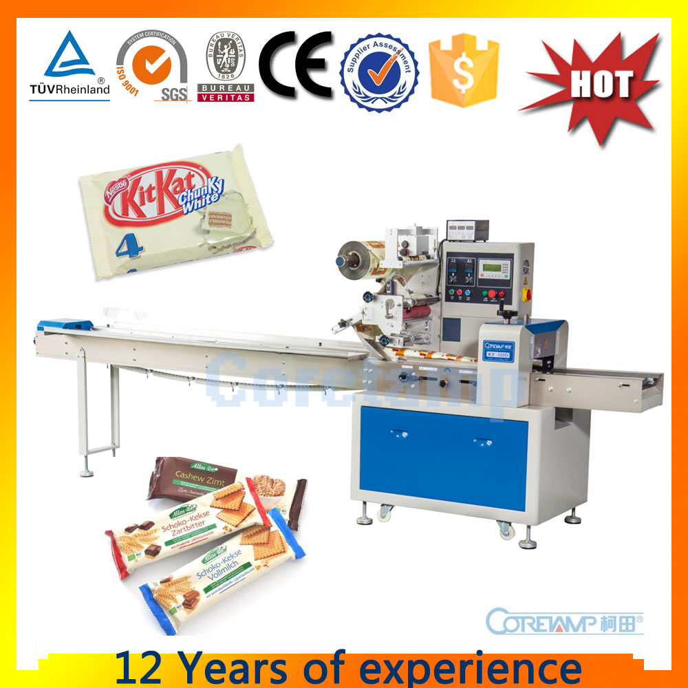 Horizontal Overwrapping Machine For Foodstuffs