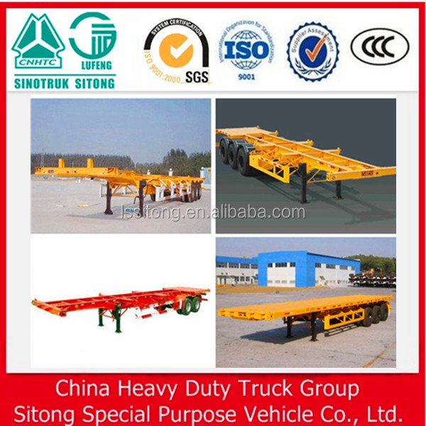 special for transporting 20ft and 40ft container used skeleton semi trailer with best price