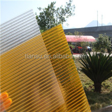 Colored twin-wall/triple-wall/four-wall/multi-wall polycarbonate hollow sheet with high UV proteciton
