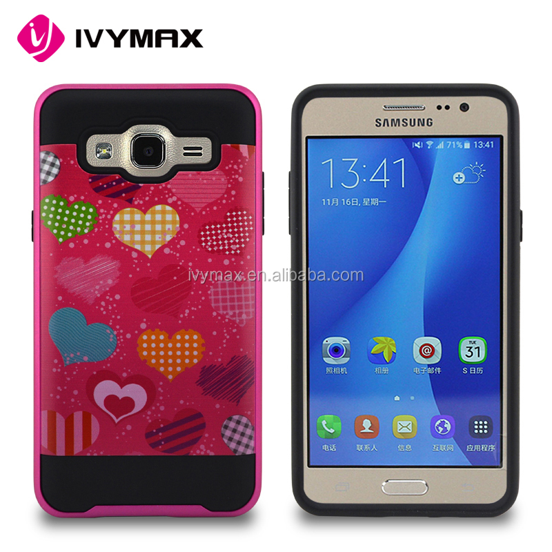China wholesale import cover case hybrid 2in 1 pc printing phone accessories for samsung G550 ON5