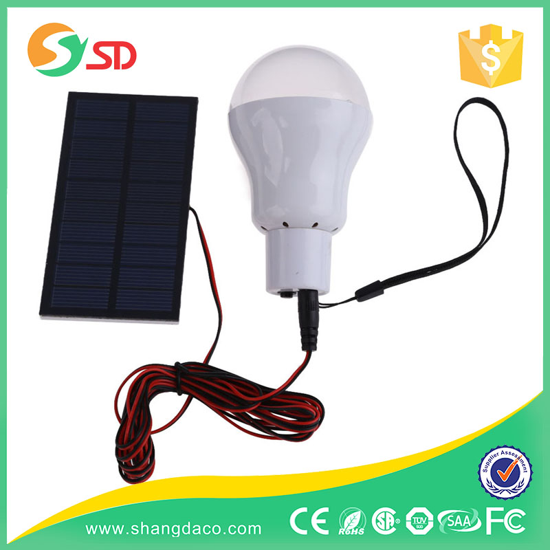 Solar power E27 1w led bulb