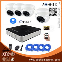 4 Channel 2MP Dome Cameras Outdoor POE Onvif IP CCTV Cam Kits,4CH HD 1080P Network DVR Home Security Camera System