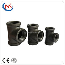 220 and 270 malleable iron black cast female threaded equal tees pipe fittings 3/4