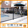 3 rails flat top Black welded steel fence