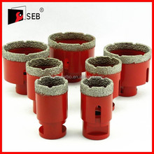 Diamond brazed hole saw/diamond core drill bits for granite marble glass