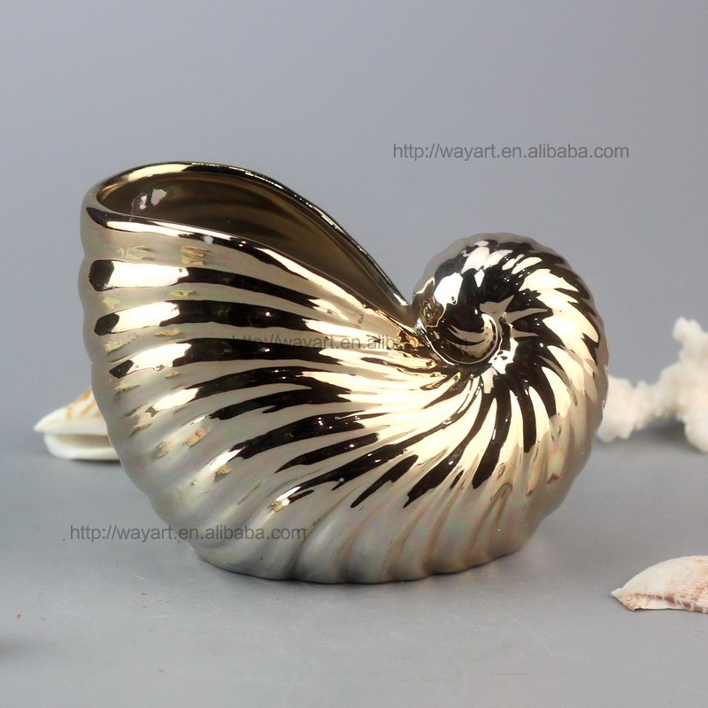 BSCI Audit Customized Ocean Ceramic artificial Conch Shells for Sale