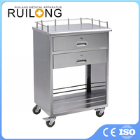 Emergency Use Stainless Steel Medical Delivery Cart